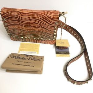 Patricia Nash Hermosa Wavy Stripe Crossbody Purse